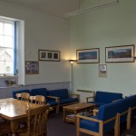 The comfy and welcoming sitting area in the common room.