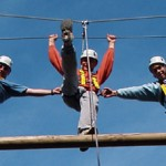 High ropes trio
