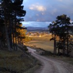 I deviated from the route a little to get this view of Tomintoul from above as the sun was setting.